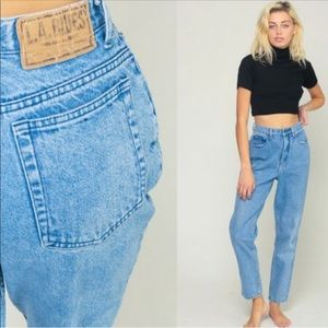 Vintage L.A blues high waisted tapered mom jeans